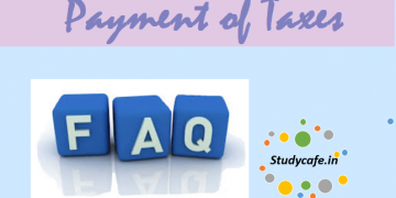FAQs on Payment of Taxes