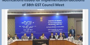 Notifications issued for implementation decisions of 38th GST Council Meet