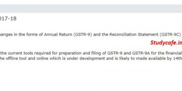 New tool for filing GSTR 9C now to be made available from 14th Dec 19