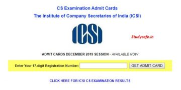 ICSI Released Admit Cards for CS December 2019 Exam