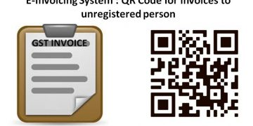 E-Invoicing System : QR Code for invoices to unregistered person
