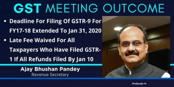 GSTR 9 and GSTR 9C due date for FY 2017-18 extended to Jan 31