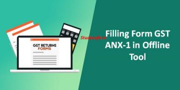 Filling Form GST ANX-1 in Offline Tool