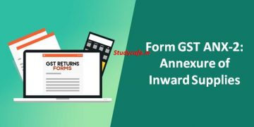 Form GST ANX-2 Annexure of Inward Supplies