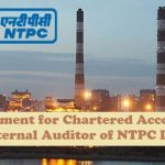 Empanelment for Chartered Accountants as Internal Auditor of NTPC Ltd.