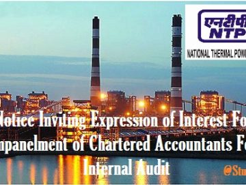 Notice Inviting Expression of Interest For Empanelment of Chartered Accountants For Internal Audit