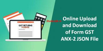 Online Upload and Download of Form GST ANX-2 JSON File