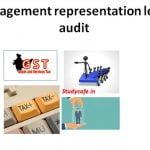 Sample management representation letter for GST audit