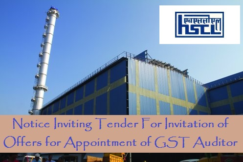 Notice Inviting Tender For Invitation of Offers for Appointment of GST Auditor