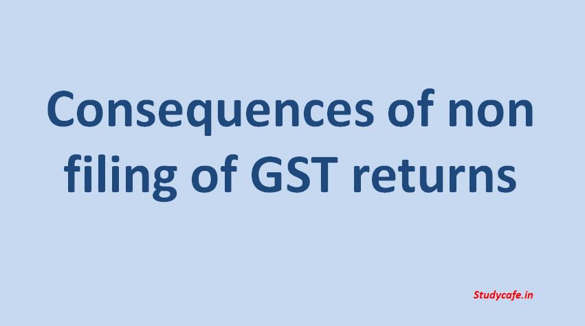 Consequences of non filing of GST returns : SOP for Non Fillers of GST Return