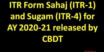 Download ITR Form Sugam (ITR-4) for AY 2020-21