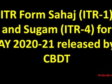 Download ITR Form Sahaj (ITR-1) for FY 2019-20 | AY 2020-21