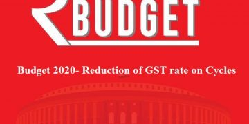Budget 2020- Reduction of GST rate on Cycles