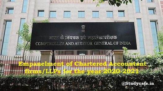 Empanelment of Chartered Accountant firms/LLPs for the year 2020-2021