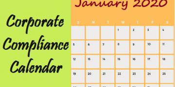 Corporate Compliance Calendar-January 2020