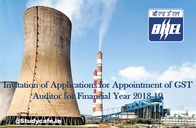 Invitation of Applications for Appointment of GST Auditor for Financial Year 2018-19