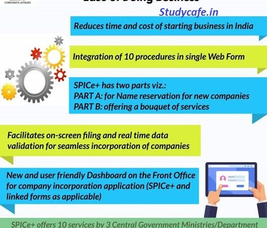 SPICe+ to offer 10 services by 3 Ministries in a single web form