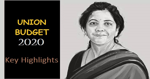 Key Highlights of Budget 2020
