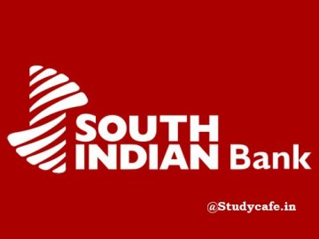 Job Vacancy for CA with The South Indian Bank Ltd