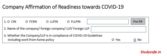 Company Affirmation of Readiness towards COVID-19: Guidelines to fill CAR