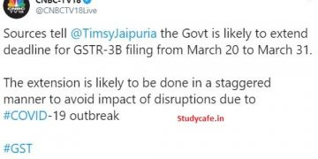 GSTR-3B filing due date to be extended from March 20 to March 31: COVID-19 Impact