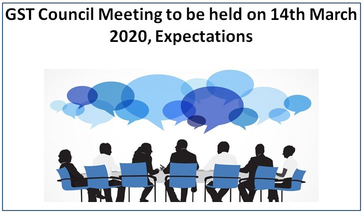 GST Council Meeting to be held on 14th March 2020, Expectations