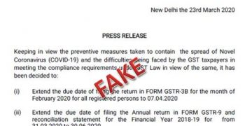 Fake news of GSTR-3B due date extension: CBIC