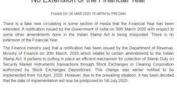 No Extension of Financial Year, Clarifies MOF