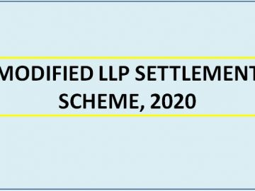 MODIFIED LLP SETTLEMENT SCHEME, 2020