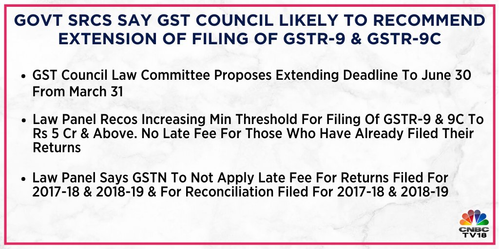 GSTR-9 & GSTR-9C for FY 2018-19, Proposal for increasing theshold to Rs 5Cr