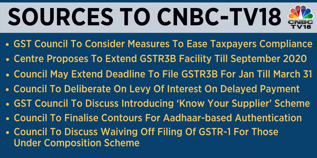 Centre proposes to extend GSTR3B facility till Sept 2020