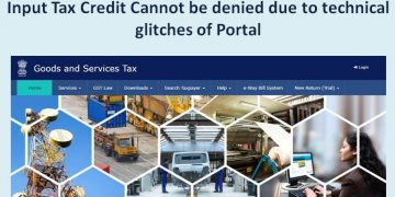 ITC Cannot be denied due to technical glitches of Portal: Judgement