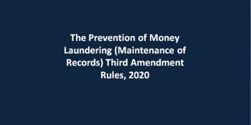 The Prevention of Money Laundering (Maintenance of Records) Third Amendment Rules, 2020