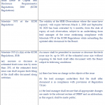 One-time SEBI relaxation with respect to validity of SEBI Observations