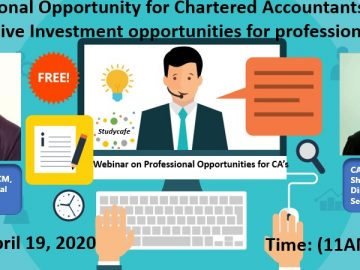 Webinar on Professional Opportunity for Chartered Accountants in Practice