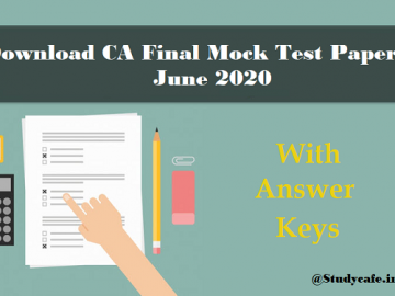 CA Final Mock Test Paper and Solution | June 2020