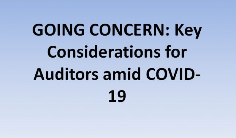 GOING CONCERN: Key Considerations for Auditors amid COVID-19