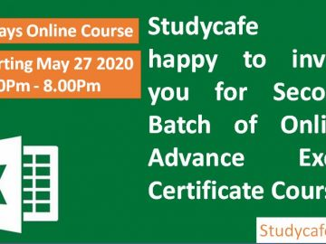 Online Advance Excel Certificate Course by Studycafe