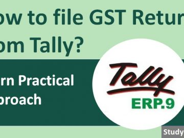 How to file GST Return from Tally