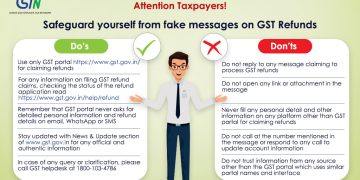 GSTN Alert to Taxpayers on fake messages on GST Refund