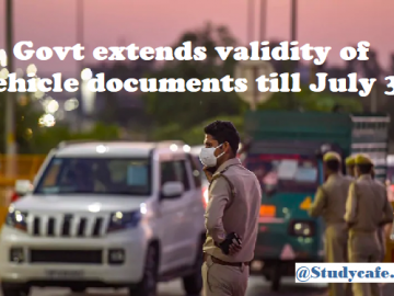 Govt extends validity of vehicle documents till July 31
