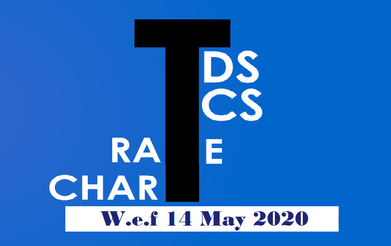 TDS/TCS Rates revised, applicable from 14-05-2020