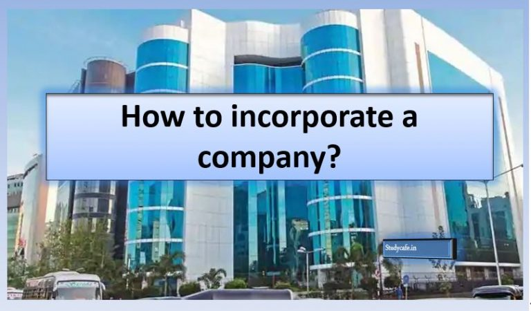 How to incorporate a company?