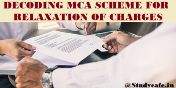 DECODING MCA SCHEME FOR RELAXATION OF CHARGES