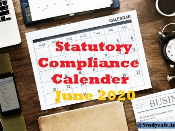 Statutory Compliance calender June 2020