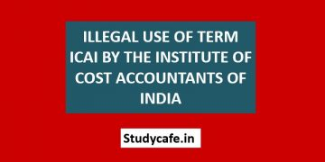 Illegal use of term ICAI by the Institute of Cost Accountants of India