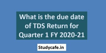 What is the due date of TDS Return for Quarter 1 FY 2020-21