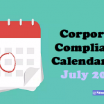 Corporate Compliance Calendar for July 2020