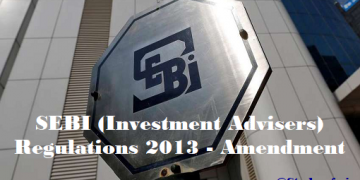 SEBI (Investment Advisers) Regulations 2013 - Amendment
