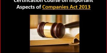 Studycafe is Organising 5 Days Certification Course on Important Aspects of Companies Act 2013